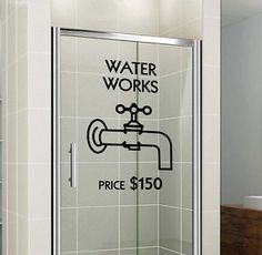 Monopoly Waterworks - Shower Door or Bathroom Wall Decal | eBay
