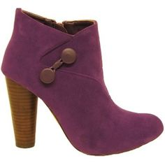 WOMENS PURPLE VICTORIAN LADIES ANKLE BOOTS  Preview