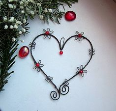 who 49 Ideas Wire Crafts, Metal Crafts, Good Morning Love, Love Days, Wire Hangers, Wire Pendant, Love Signs, Beads And Wire, Wire Art