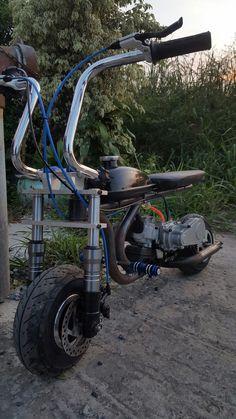 Vespa 50 Special, Build A Go Kart, Drift Trike, Bike Ideas, Mopeds, Mini Bike, Bike Design, Scooters, Atv