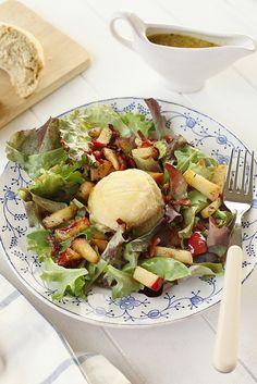 Warm geitekaasslaatje met appeltjes en spek - Dat kan gewoon niet slecht zijn