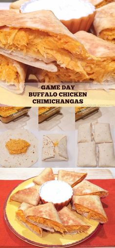 Game Day Food: Buffalo Chicken Chimichangas #recipe #gameday