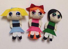 Power Puff Girls Ribbon Sculpture Hair Clips by www.facebook.com/babybugwear