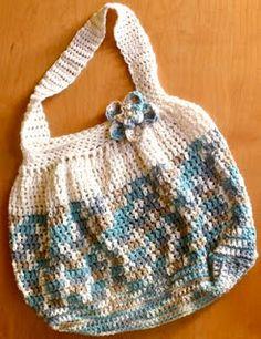 Sarahndipities ~ fortunate handmade finds: Things to Make: Free Crochet Hobo Bag Pattern