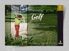 Flyer publicitario Escuelas Deportivas RACE - Golf