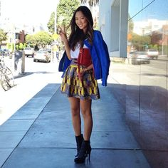 """@Aimee Song's photo: """"Latergram. Wearing @domaleather jacket, @tbagslosangeles skirt from @berrigoldfarbpr and #celine box bag."""""""