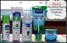 Zim's Naturally Based Innovative health products prize pack giveaway 8/7/2016