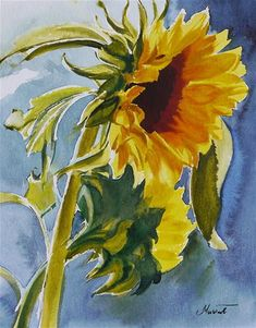 "Daily+Paintworks+-+""sunflower-+water""+-+Original+Fine+Art+for+Sale+-+©+Beata+Musial-Tomaszewska"
