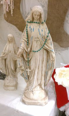 Vintage Virgin Mary Madonna Statue II by LeFrenchLaundry on Etsy, $150.00