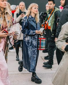 """1,353 Likes, 5 Comments - Diego (@collagevintage2) on Instagram: """"Burberry day in London #lfw #streetstyle"""""""