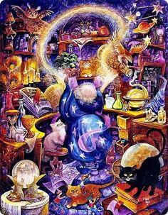 Bill Bell (b.1934)  — Rainbow Wizard (780×1002)