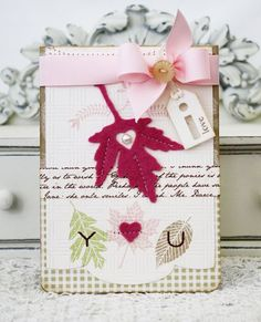 Leaf Prints Love Card by Melissa Phillips for Papertrey Ink (August 2012)