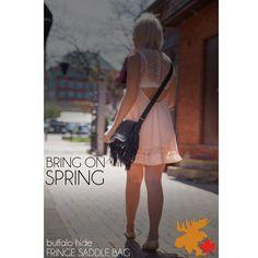 Black fringe saddle bag! #leather #Canada #handmade #rockwood #ontario #like #daily #fashion #hidesinhand #fringe #saddle #bag #purse Fringe Fashion, Daily Fashion, Saddle Bags, White Dress, Ballet Skirt, Canada, Purses, Skirts, Skirt