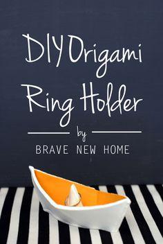 DIY Origami Ring Holder - Brave New Home