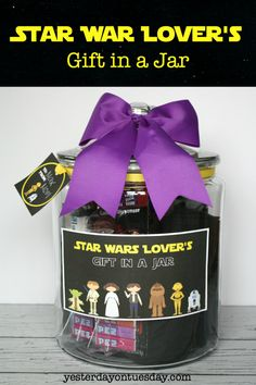 6243 best diy gifts images on pinterest in 2018 gifts how to assemble a star wars lovers gift in a jar plus free printable labels tags and quotes solutioingenieria Gallery