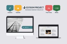 Elysium Powerpoint Template by Mia on Creative Market
