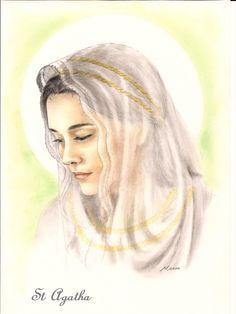 Saint Agatha https://www.facebook.com/OfMiArt