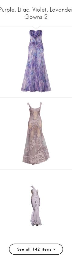 """""""Purple, Lilac, Violet, Lavander Gowns 2"""" by srta-sr ❤ liked on Polyvore featuring smrgowns, dresses, gowns, long dress, purple, purple evening dresses, purple ball gown, purple gown, purple dress and long dresses"""
