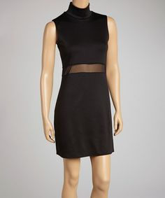 Take a look at this Black Mock Neck Sleeveless Dress by Star Vixen on #zulily today!