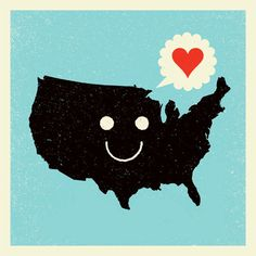 ✈ We heart you, America, and we heart this poster from Aesthetic Apparatus too. ✈
