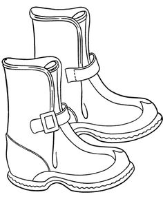 Winter Boots For Snow Coloring Page