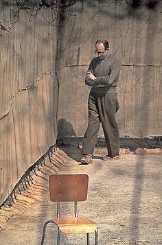 Adolf Eichmann Nazi potentate in his cell in Israel before being executed in 1962. [1940x2941]