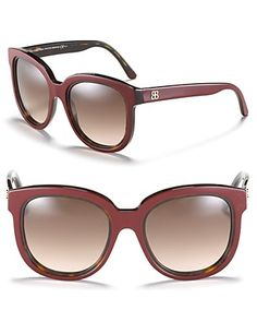Balenciaga Oversized Round Double Edge Sunglasses