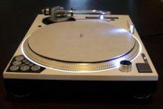 (CUSTOM) Technics 1200 MK5 turntable WHITE w/recessed dicer, white LED's & halo