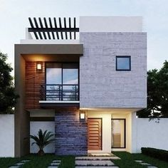 Minimal House Design, Bungalow House Design, House Front Design, Small House Design, Contemporary Building, Contemporary Bar, Contemporary Cottage, Contemporary Bedroom, Contemporary Apartment