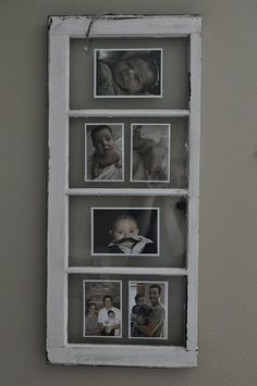 how perfect would this be for the stairwell in my ohouse?  a unique way to do a photo wall...