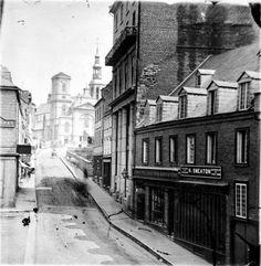 Côte de la Fabrique, vers 1880 Old Quebec, Quebec City, Chute Montmorency, Chateau Frontenac, Le Petit Champlain, I Am Canadian, Good Old Times, Of Montreal, Canada