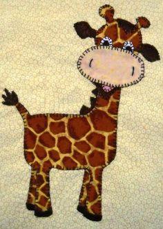 Giraffe PDF applique pattern baby quilt pattern by MsPDesignsUSA Baby Quilt Patterns, Quilt Baby, Free Applique Patterns, Applique Templates, Felt Patterns, Sewing Patterns, Motifs D'appliques, Animal Quilts, Manta Crochet