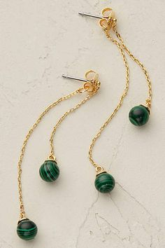 Anthropologie EU Bijou Droplet Earrings. Add a classic hint of shimmering semi-precious stones and gold to ensembles with this delightfully delicate pair.