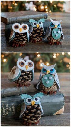 Weihnachtsschmuck Tannenzapfen Eulen www.homelisty.com ... # Eulen #homelisty ...  #eulen #homelisty #tannenzapfen #weihnachtsschmuck