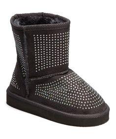 Gray Rhinestone Boot