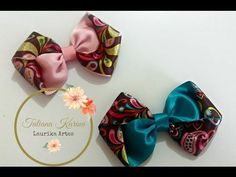 Passo a passo: Laço dupla face enrolado by Tatiana Karina DIY/ Tutorial / PAP/ Ribbon Bow - YouTube