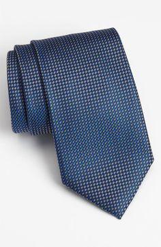 $195, Navy Silk Tie: Ermenegildo Zegna Woven Silk Tie. Sold by Nordstrom. Click for more info: https://lookastic.com/men/shop_items/2058/redirect