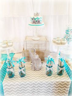Incredible Elephant baby shower!  See more party ideas at CatchMyParty.com!