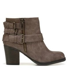 Biker meets boho in the Wickker Bootie from Madden Girl.Faux leather upper in an ankle bootie style with a round toeMoto-inspired strap detailZipper entry5 inch shaft heightSmooth lining, lightly cushioned insoleFlexible traction outsole, 2 and 3/4 inch stacked heel