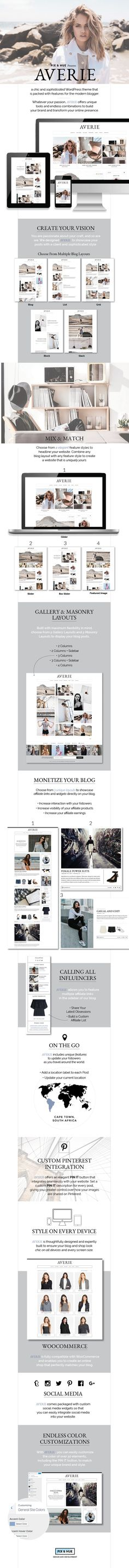 Averie - A Blog & Shop Theme by pixandhue | ThemeForest #ad