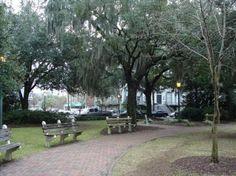 Day Bull and Perry~Chippewa Square~Savannah, GA Savannah Georgia, Savannah Chat, Vacation Places, Vacation Ideas, Vacations, Historical Landmarks, Tybee Island, Tour Tickets, Most Beautiful Cities