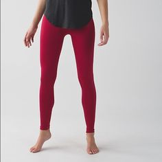 Lululemon zone in tight compression 4 wunder red These yoga tights are engineered with zoned compression to keep you feeling held-in and supported in all the right places. fabric + features  seamless construction uses strategically placed seams to provide zoned support and minimize distractions no-dig waistband is engineered to stay put and keep you covered high rise held-in sensation lululemon athletica Pants Leggings