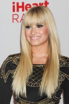 Demi Lovato's blunt bangs