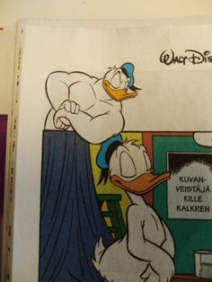 Three Caballeros, Donald Duck, Feather, Nude, Cartoon, Illustration, Character, Illustrations, Quill