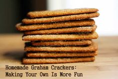 Homemade graham crackers recipe!  http://www.cheaprecipeblog.com/2011/12/gift-worthy-homemade-graham-crackers-recipe/