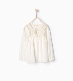 ZARA - COLLECTION SS16 - Large blouse with bead detail