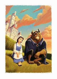 Beauty and the Beast...this pic is at Be Our Guest in New Fantasyland, Disney World.