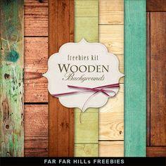 Far Far Hill: Freebies Wooden Backgrounds