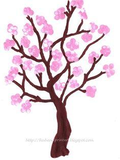Fingerprint Spring Cherry Blossom Tree