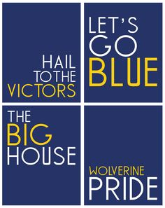 Michigan Wolverines Print Collection by GrandmasTapShoes on Etsy